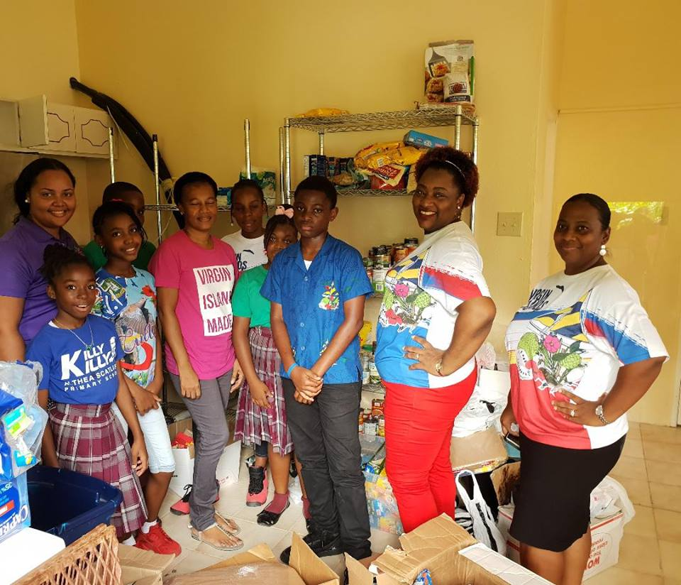 Althea Scatliffe Primary School hosted a food drive